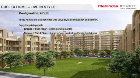 2365 sqft, 4 bhk Apartment in Mahindra Bloomdale Duplex Home 6 Mihan, Nagpur at Rs. 1.0714 Cr
