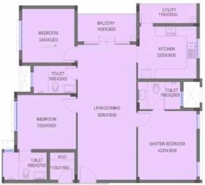 1561 sqft, 3 bhk Apartment in BSCPL Bollineni Hillside Sholinganallur, Chennai at Rs. 40000