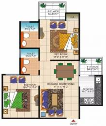 945 sqft, 2 bhk Apartment in Vasu Fortune Residency Raj Nagar Extension, Ghaziabad at Rs. 9300