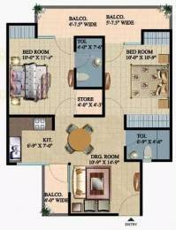 1175 sqft, 2 bhk Apartment in Ajnara Integrity Raj Nagar Extension, Ghaziabad at Rs. 12000