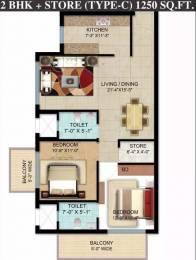 1250 sqft, 2 bhk Apartment in Omaxe Hazratganj Residency Gomti Nagar Extension, Lucknow at Rs. 46.0000 Lacs