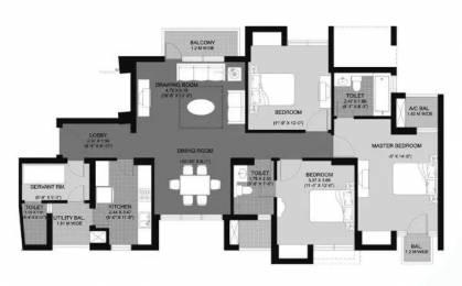 1815 sqft, 3 bhk Apartment in Unitech Fresco Sector 50, Gurgaon at Rs. 36000