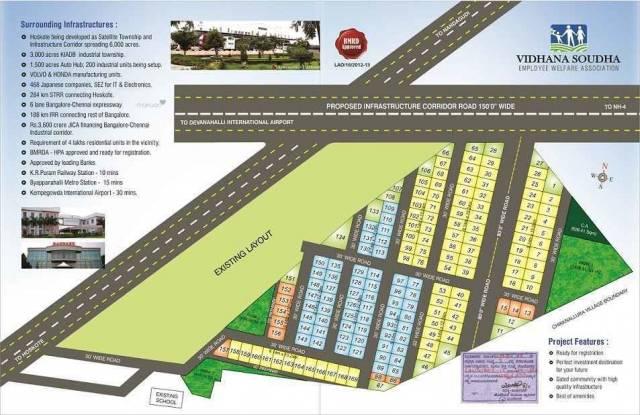 1200 sqft, Plot in Builder Project Hoskote, Bangalore at Rs. 18.0000 Lacs