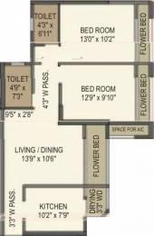 1026 sqft, 2 bhk Apartment in Gujrat Samriddhi Mira Road East, Mumbai at Rs. 82.0000 Lacs