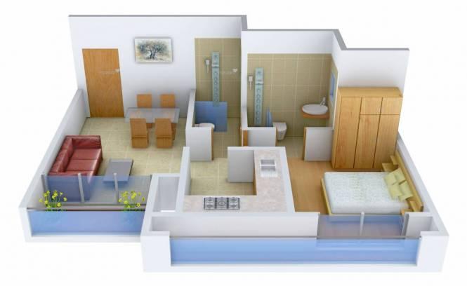 412 sqft, 1 bhk Apartment in Rustomjee Global City Virar, Mumbai at Rs. 28.0000 Lacs