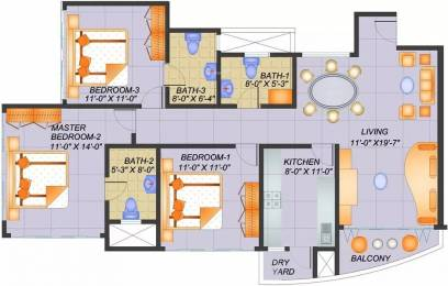1445 sqft, 3 bhk Apartment in Confident Antlia III Sarjapur, Bangalore at Rs. 67.0000 Lacs
