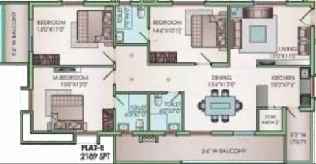 2189 sqft, 3 bhk Apartment in Jain Ravi Gayathri Heights Hitech City, Hyderabad at Rs. 43000