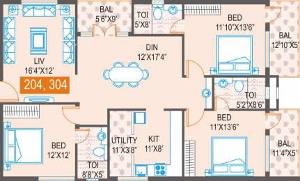 1810 sqft, 3 bhk Apartment in Samhita Greenwoods Ramagondanahalli, Bangalore at Rs. 76.0000 Lacs