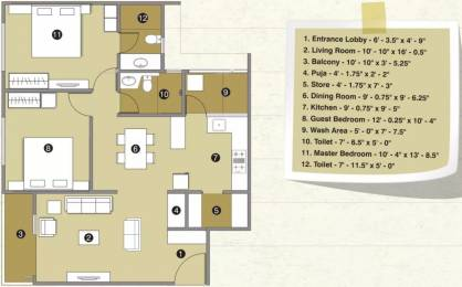 1425 sqft, 2 bhk Apartment in Pacifica Reflections Near Nirma University On SG Highway, Ahmedabad at Rs. 15000