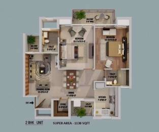 1150 sqft, 2 bhk Apartment in Builder Project Ambala Chandigarh Expressway, Zirakpur at Rs. 39.7500 Lacs