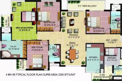 2350 sqft, 4 bhk Apartment in Omaxe Heights Sector 86, Faridabad at Rs. 1.0300 Cr