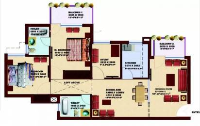 1290 sqft, 2 bhk Apartment in SRS Pearl Heights Sector 87, Faridabad at Rs. 38.5700 Lacs