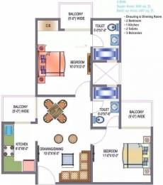 860 sqft, 2 bhk Apartment in Saviour Green Arch Techzone 4, Greater Noida at Rs. 7000