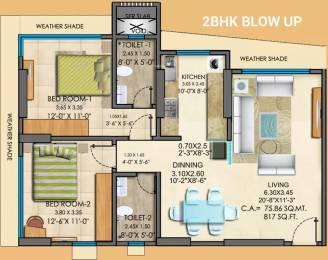 1307 sqft, 2 bhk Apartment in Mayfair Greens Kandivali West, Mumbai at Rs. 41000