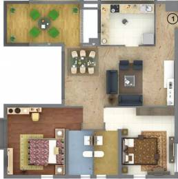 1398 sqft, 2 bhk Apartment in Raja Bahadur Kourtyard Wadgaon Sheri, Pune at Rs. 1.3000 Cr