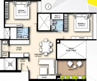 1289 sqft, 2 bhk Apartment in Goel Ganga Platino Kharadi, Pune at Rs. 35000