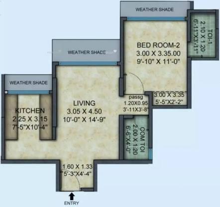 574 sqft, 1 bhk Apartment in Mayfair Hillcrest Vikhroli, Mumbai at Rs. 1.2500 Cr