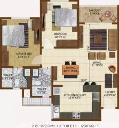 1230 sqft, 2 bhk Apartment in Brigade Northridge Jakkur, Bangalore at Rs. 77.0000 Lacs
