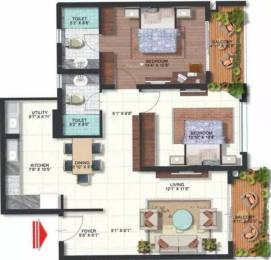 1310 sqft, 2 bhk Apartment in Brigade Omega Subramanyapura, Bangalore at Rs. 80.0000 Lacs