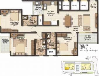 1846 sqft, 3 bhk Apartment in Sobha Marvella Bellandur, Bangalore at Rs. 1.4700 Cr