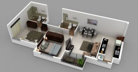 883 sqft, 2 bhk Apartment in Builder Project Mysore Road, Bangalore at Rs. 37.0000 Lacs