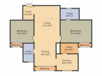 1304 sqft, 2 bhk Apartment in Sobha Heritage Rajarajeshwari Nagar, Bangalore at Rs. 1.0600 Cr