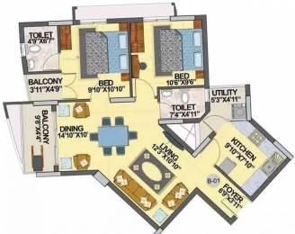 1012 sqft, 2 bhk Apartment in Hoysala Infantry Towers Sanjay Nagar, Bangalore at Rs. 78.0000 Lacs