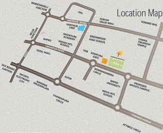 1315 sqft, 2 bhk Apartment in Builder Vandhana Spring Woods Sarjapur, Bangalore at Rs. 36.1600 Lacs