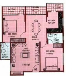 1190 sqft, 2 bhk Apartment in Star SM Homes Banaswadi, Bangalore at Rs. 55.0000 Lacs