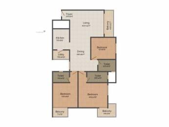1565 sqft, 3 bhk Apartment in MJ Lifestyle AZALIYA Choodasandra, Bangalore at Rs. 65.0000 Lacs