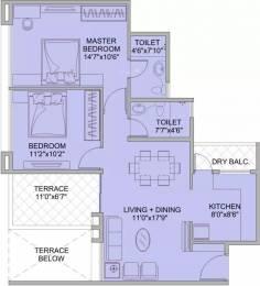 996 sqft, 2 bhk Apartment in Kohinoor Tinsel Town Hinjewadi, Pune at Rs. 71.0000 Lacs