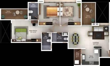 1367 sqft, 3 bhk Apartment in Kohinoor Tinsel Town Hinjewadi, Pune at Rs. 84.0000 Lacs