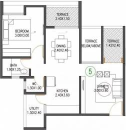 745 sqft, 1 bhk Apartment in VTP Urban Nest Undri, Pune at Rs. 48.0000 Lacs