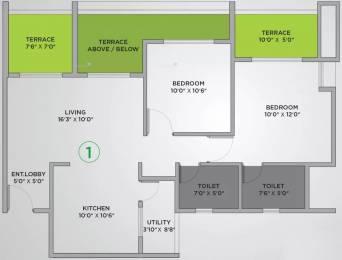 1060 sqft, 2 bhk Apartment in VTP Urban Nest Undri, Pune at Rs. 68.0000 Lacs
