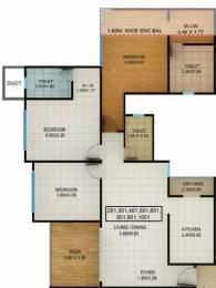 1359 sqft, 3 bhk Apartment in Kolte Patil Centria Undri, Pune at Rs. 1.0700 Cr