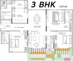 2437 sqft, 3 bhk Apartment in Vaishnavi Terraces JP Nagar Phase 4, Bangalore at Rs. 60000