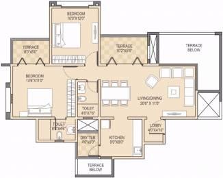1071 sqft, 2 bhk Apartment in Adi Horizons Wakad, Pune at Rs. 68.0000 Lacs