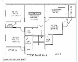 1600 sqft, 3 bhk Apartment in Dhawan Group Gokul Kahan Abhyankar Nagar, Nagpur at Rs. 1.1000 Cr