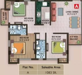 1083 sqft, 3 bhk Apartment in Magnolia Grand New Town, Kolkata at Rs. 32.5000 Lacs