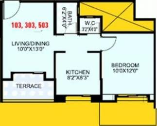 585 sqft, 1 bhk Apartment in Gulmohar Helios Kharadi, Pune at Rs. 37.0000 Lacs