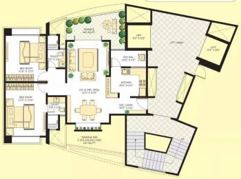1255 sqft, 2 bhk Apartment in Marvel Citrine Kharadi, Pune at Rs. 30000