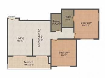 1041 sqft, 2 bhk Apartment in Kumar Primavera Wadgaon Sheri, Pune at Rs. 20000