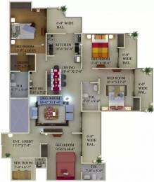2344 sqft, 4 bhk Apartment in Supertech Eco Village 1 Sector 1 Noida Extension, Greater Noida at Rs. 75.0000 Lacs