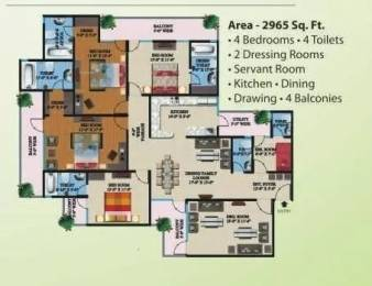 2965 sqft, 4 bhk Apartment in Supertech Eco Village 1 Sector 1 Noida Extension, Greater Noida at Rs. 95.0000 Lacs