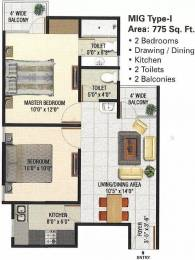 775 sqft, 2 bhk Apartment in Panchsheel Greens Sector 16B Noida Extension, Greater Noida at Rs. 28.0000 Lacs