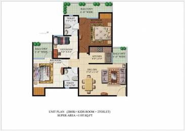 1195 sqft, 2 bhk Apartment in Habitech Infrastructure Panchtatva Phase 2 Noida Extension, Noida at Rs. 41.2000 Lacs