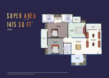 1475 sqft, 3 bhk Apartment in Builder Revanta multi state cghs revanta heights L Zone Delhi, Delhi at Rs. 46.2500 Lacs