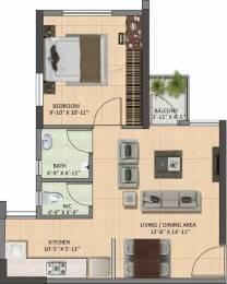 605 sqft, 1 bhk Apartment in Shapoorji Pallonji Joy Ville Howrah Howrah, Kolkata at Rs. 19.6625 Lacs