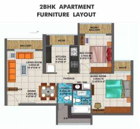 1100 sqft, 2 bhk Apartment in Builder mahaveer hight Roadpali, Mumbai at Rs. 80.0000 Lacs