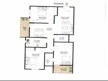 1557 sqft, 3 bhk Apartment in Builder Hastinapur Dinesh Patna Gaya Highway, Patna at Rs. 55.0000 Lacs
